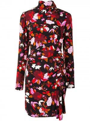 Платье мини Marcel с цветочным принтом A.L.C.. Цвет: черный