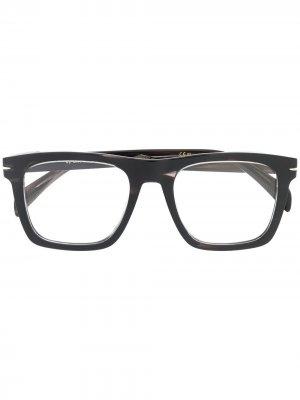 DB 7020 square-frame glasses DAVID BECKHAM EYEWEAR. Цвет: серый