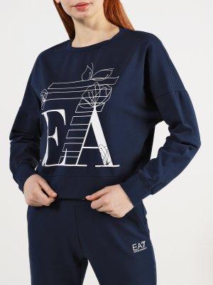 Спортивный костюм EA7 Emporio Armani. Цвет: siniy