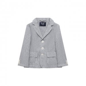Льняной пиджак Il Gufo. Цвет: синий