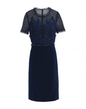 Платье до колена JENNY PACKHAM. Цвет: темно-синий