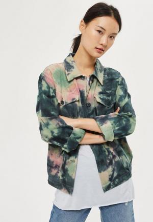 Куртка Topshop. Цвет: зеленый