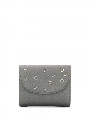 Бумажник с логотипом LIU JO. Цвет: серебристый