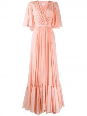 Длинное платье с запахом Giambattista Valli. Цвет: оранжевый