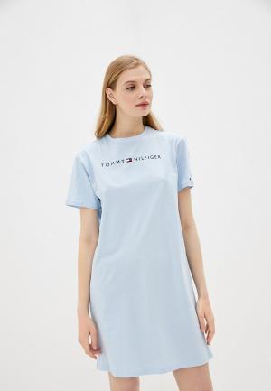 Платье домашнее Tommy Hilfiger. Цвет: голубой