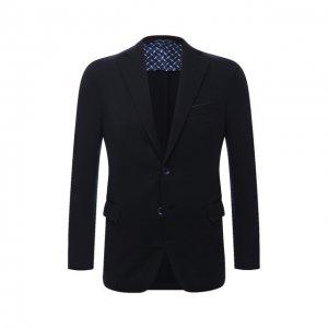 Шерстяной пиджак Zilli. Цвет: синий
