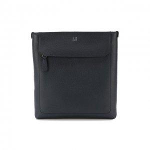 Кожаная сумка-планшет Dunhill. Цвет: синий