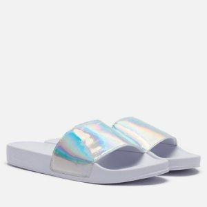 Женские сланцы Embossed Patent Slide Tommy Jeans. Цвет: белый