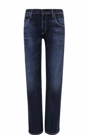 Укороченные джинсы с потертостями Citizens Of Humanity. Цвет: синий