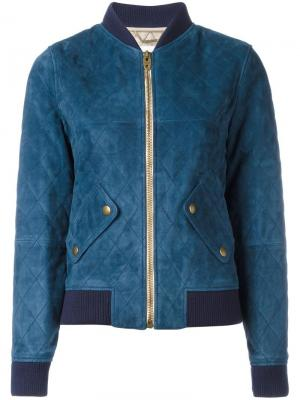 Стеганая куртка-бомбер Chloé. Цвет: синий