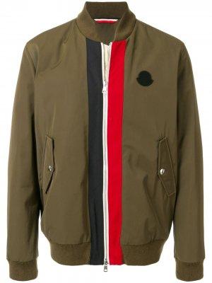 Утепленная куртка-бомбер Tacna Moncler. Цвет: зеленый