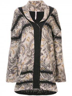 Трикотажное пальто с цветочным принтом Antonio Marras