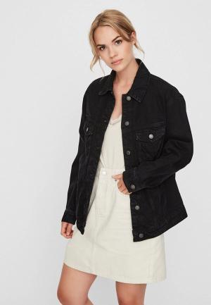 Куртка джинсовая Vero Moda. Цвет: черный