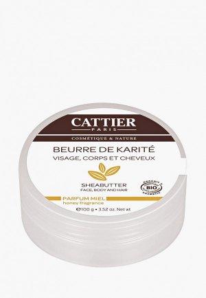 Масло для тела Cattier Карите с ароматом меда (100 г). Цвет: прозрачный