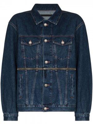 Джинсовая куртка Rihanna со съемной деталью Made in Tomboy. Цвет: синий
