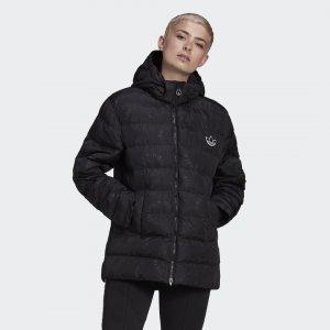 Утепленная куртка Dot Originals adidas. Цвет: черный