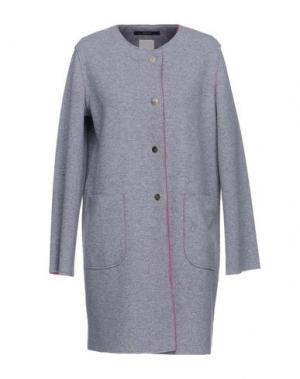 Легкое пальто MANUELA CONTI. Цвет: светло-серый