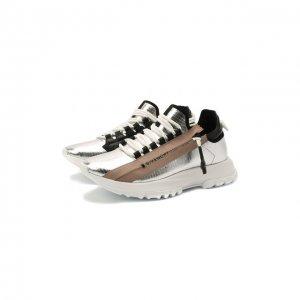 Комбинированные кроссовки Spectre Givenchy. Цвет: серебряный
