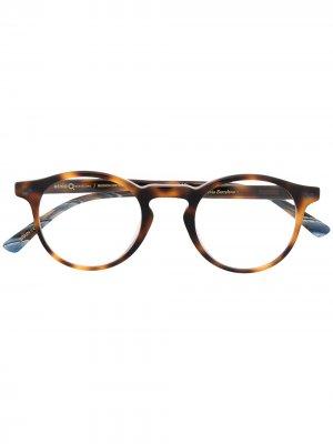Солнцезащитные очки Mission District в круглой оправе Etnia Barcelona. Цвет: коричневый