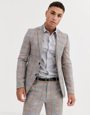 Серый пиджак в клетку Avail London