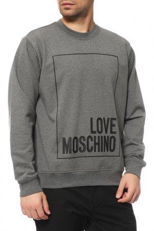 Толстовка Love Moschino. Цвет: серый