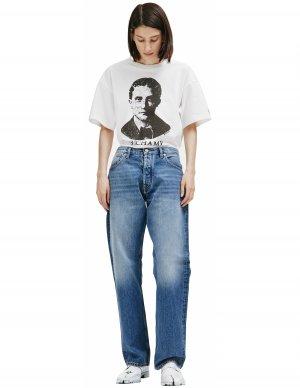 Прямые джинсы синего цвета Maison Margiela