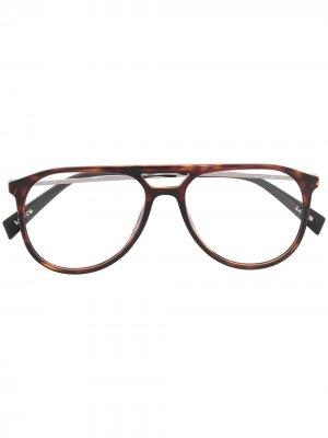 Levis солнцезащитные очки-авиаторы черепаховой расцветки Levi's. Цвет: коричневый