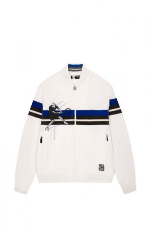 Куртка спортивная Z Zegna. Цвет: белый