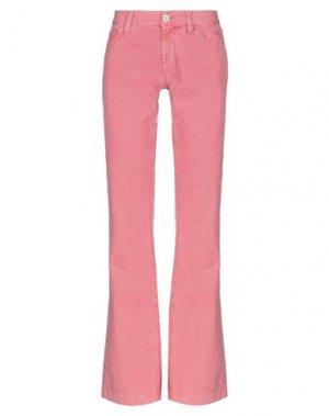 Повседневные брюки MELTIN POT. Цвет: розовый