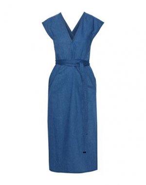 Платье длиной 3/4 DEREK LAM. Цвет: синий