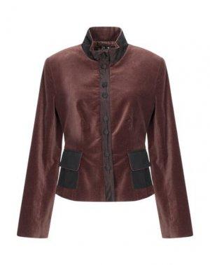 Пиджак GOLDY. Цвет: темно-коричневый