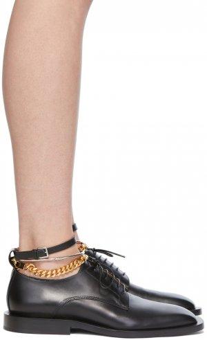 SSENSE Exclusive Black Chain Loafers Jil Sander. Цвет: 001 black