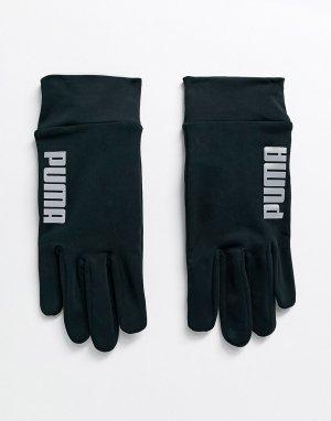 Черные перчатки для сенсорных гаджетов -Черный Puma