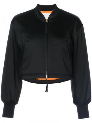 Укороченная куртка-бомбер T By Alexander Wang. Цвет: черный