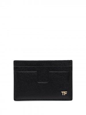 Картхолдер с логотипом TF TOM FORD. Цвет: черный