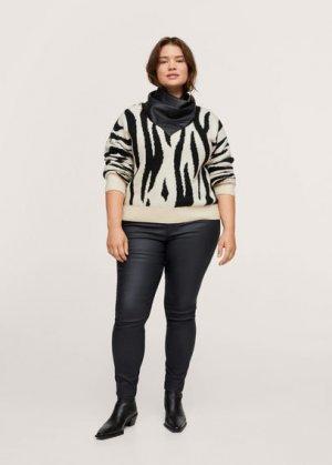Вощёные джинсы скинни - Anne Mango. Цвет: черный