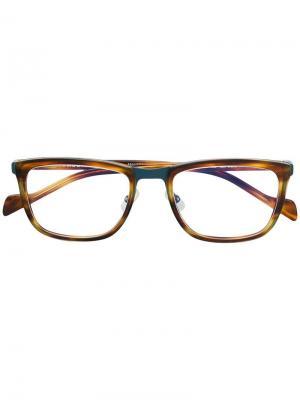 Tortoiseshell square glasses Face À. Цвет: коричневый