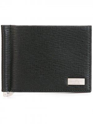Классический бумажник Salvatore Ferragamo. Цвет: черный