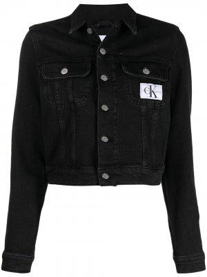Джинсовая куртка с нашивкой-логотипом CK Calvin Klein. Цвет: черный