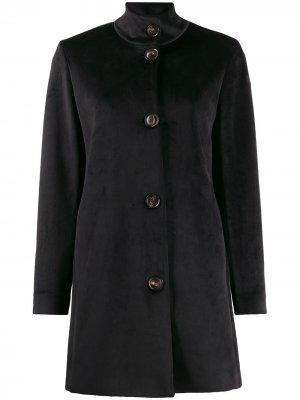 Фактурное пальто с высоким воротником RRD. Цвет: черный