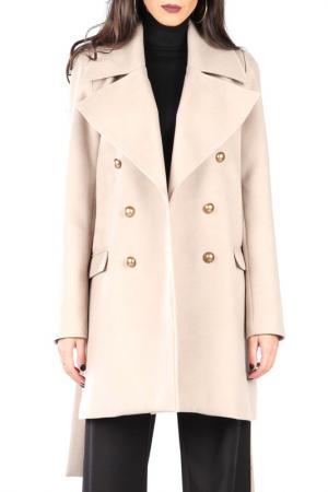 Пальто CARLA BY ROZARANCIO. Цвет: бежевый