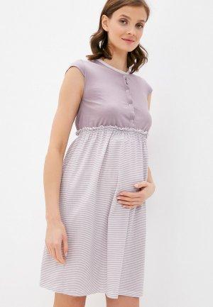 Платье домашнее All Mixes. Цвет: фиолетовый