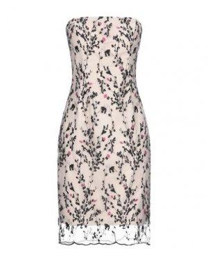 Платье до колена CARLO PIGNATELLI CERIMONIA. Цвет: светло-розовый