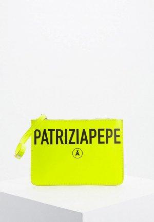 Клатч Patrizia Pepe. Цвет: желтый