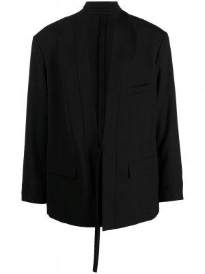Пиджак-кимоно с завязками AMBUSH. Цвет: черный