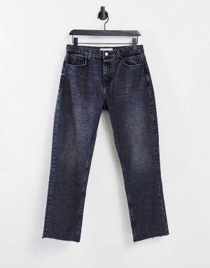 Черные джинсы прямого кроя -Черный цвет Topshop