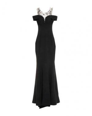 Длинное платье CARLO PIGNATELLI CERIMONIA. Цвет: черный