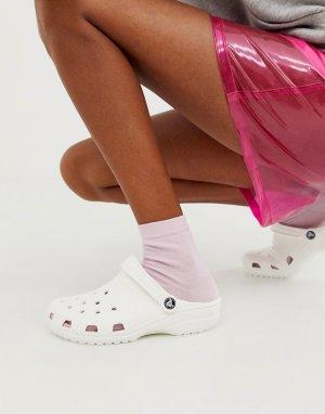 Белые классические шлепанцы -Белый Crocs