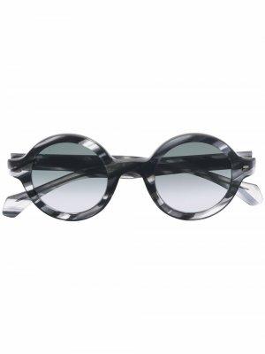 Солнцезащитные очки в круглой оправе Boss Hugo. Цвет: серый