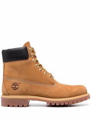 Ботинки на шнуровке Timberland. Цвет: желтый